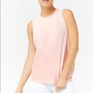 Gap Baby Pink Muscle Simple Cotton Tank Top